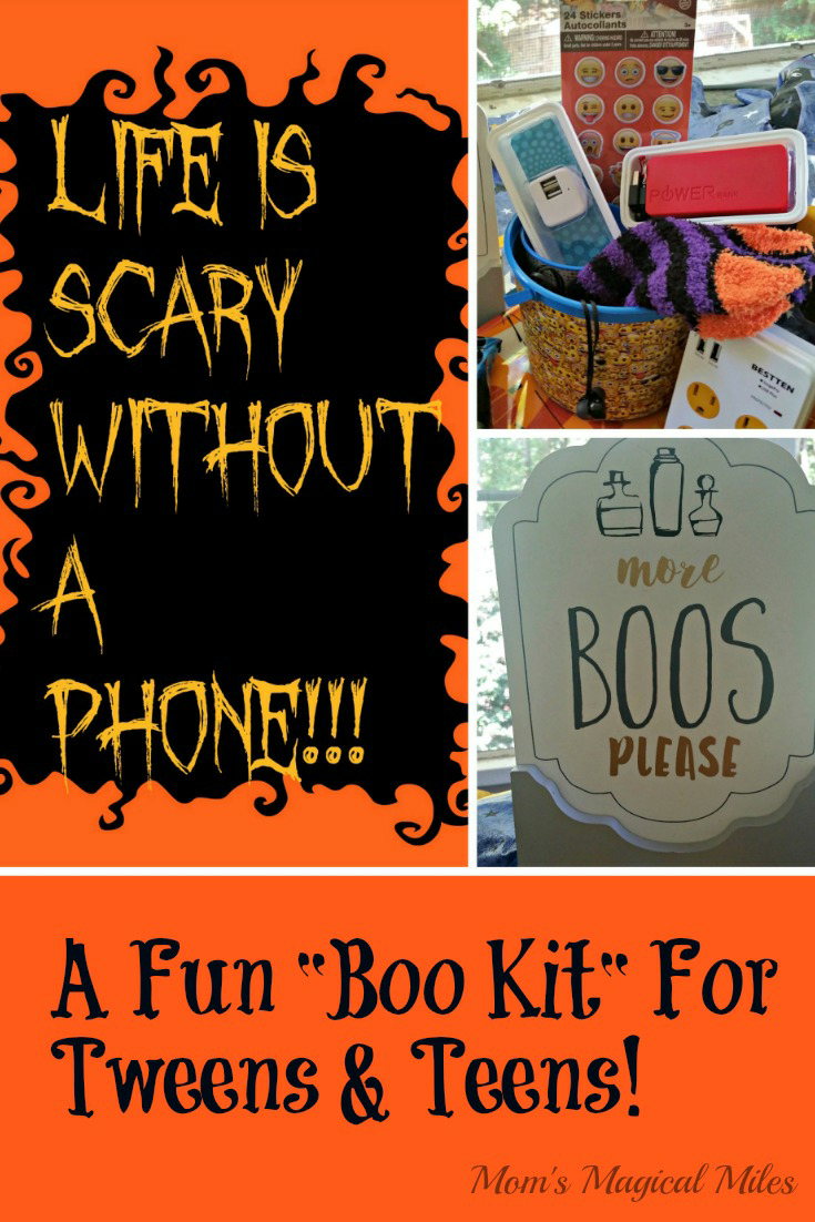 Halloween should be fun for kids of all ages.  That's why I made this phone-accessory Boo Kit that's perfect for tweens and teens!