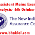 NIACL Assistant Mains 2018: Exam Analysis & Questions Asked
