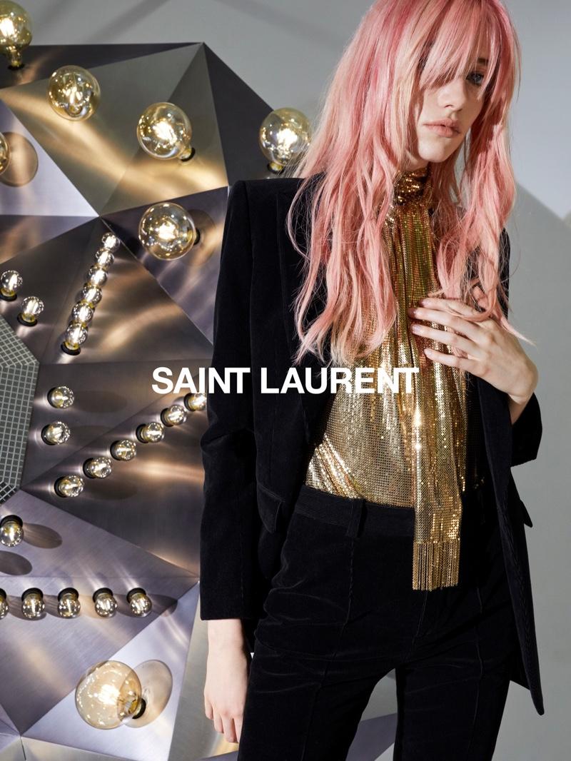 Grace Hartzel stars in Saint Laurent fall 2020 campaign.
