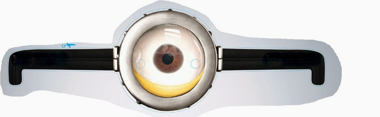 It is an image of Minions Printable Eyes in wearing goggles