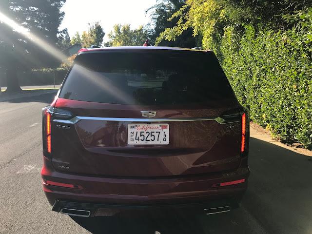 Rear view of 2020 Cadillac XT6 Sport AWD
