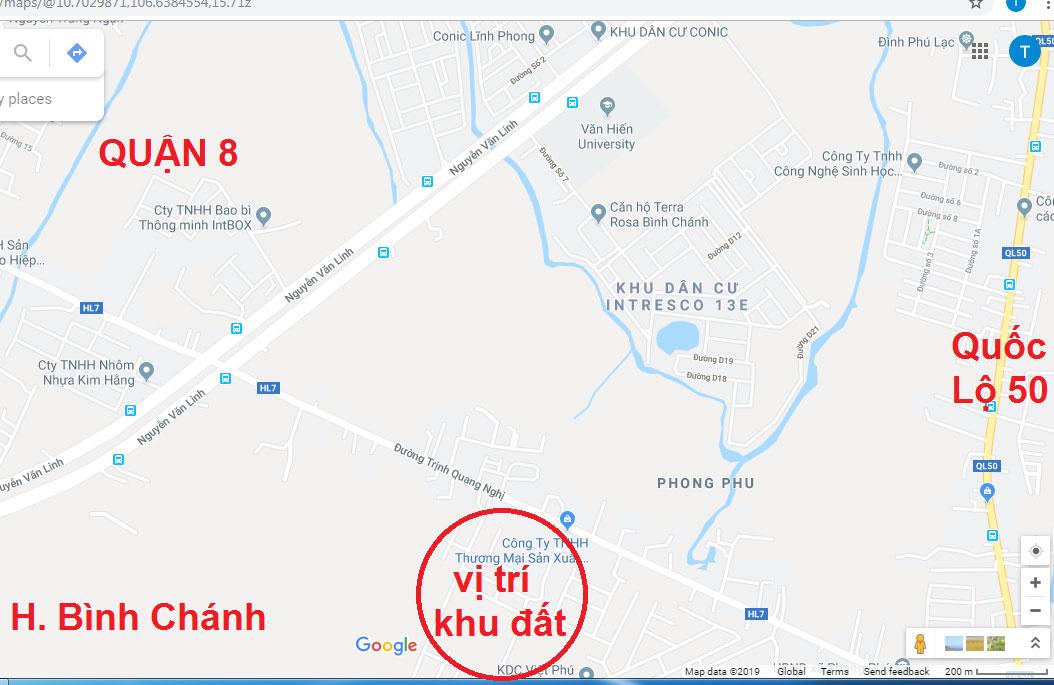 Bán đất nền Bình Chánh đường Trinh Quang Nghị, cách đường Nguyễn Văn Linh 800m