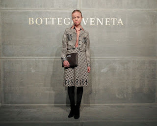 Amelia Windsor At Bottega Veneta Show At New York Fashion Week 2018