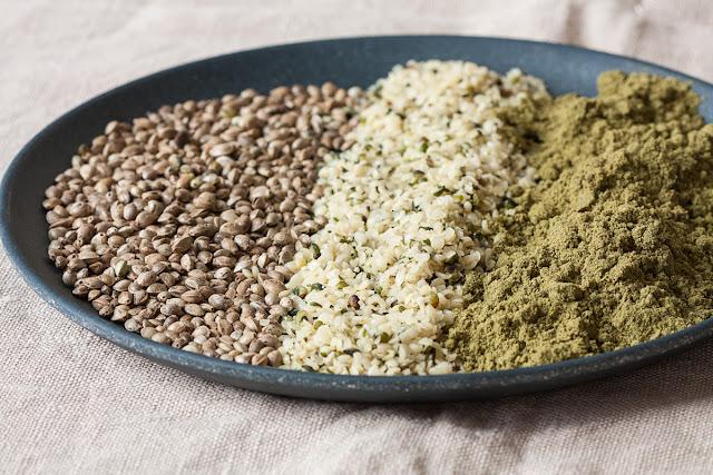 Konopljine sjemenke i protein u prahu