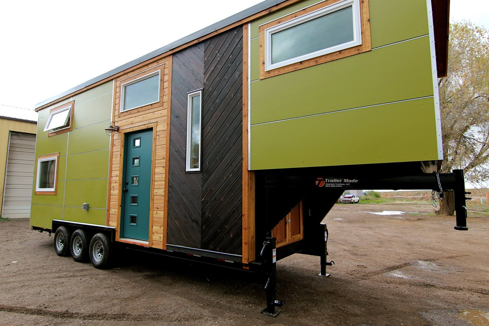tiny house town elise clara 39 s 31 39 gooseneck tiny home. Black Bedroom Furniture Sets. Home Design Ideas