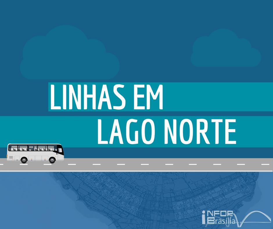 Horário de ônibus das linhas do Lago Norte