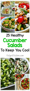 25 Healthy Cucumber Salads to Keep You Cool found on KalynsKitchen.com