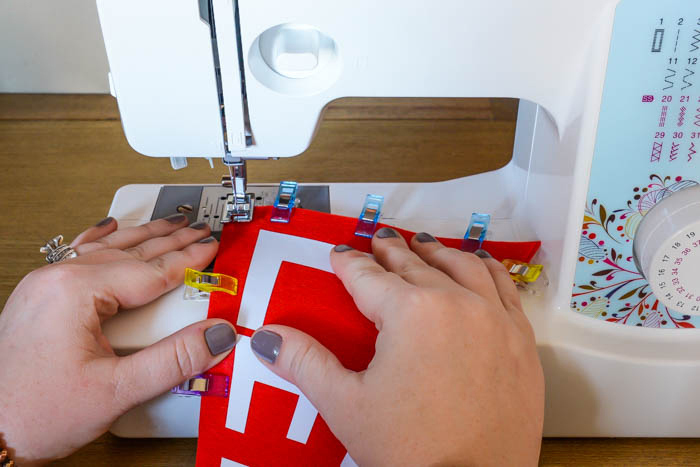 Sewing Football Pennants