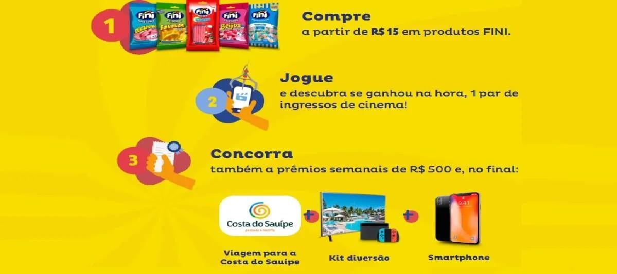 Pega Prêmio Promoção Fini Jogue e Ganhe - Concorra Prêmios Semanais
