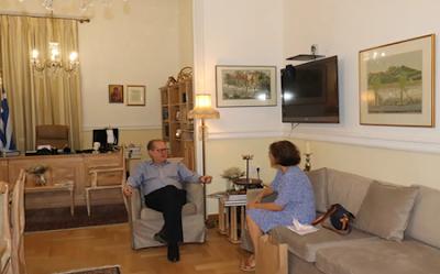 Ενημέρωση του περιφερειάρχη Π. Νίκα για αρχαιολογική έρευνα στην Ανω Μεσσηνία