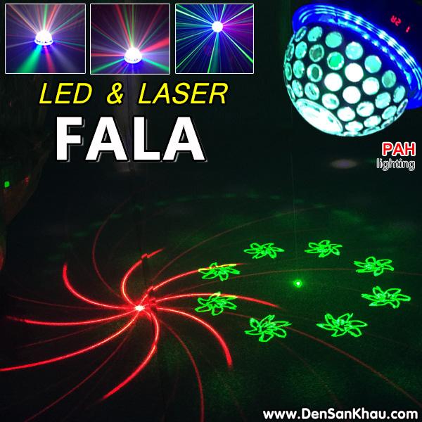 Đèn LED + Laser Fala 2 trong 1 trang trí phòng karaoke gia đình thêm đẹp và sôi động.
