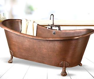 copper-bathtub