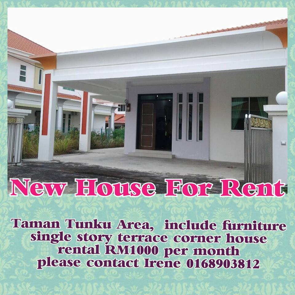 House Rent Com: Taman Tunku New House FOR RENT RM1000/month