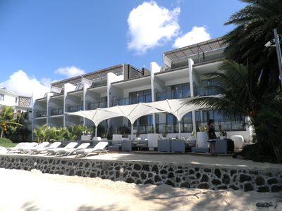 Baystone Hotel côté lagon de Grand Baie