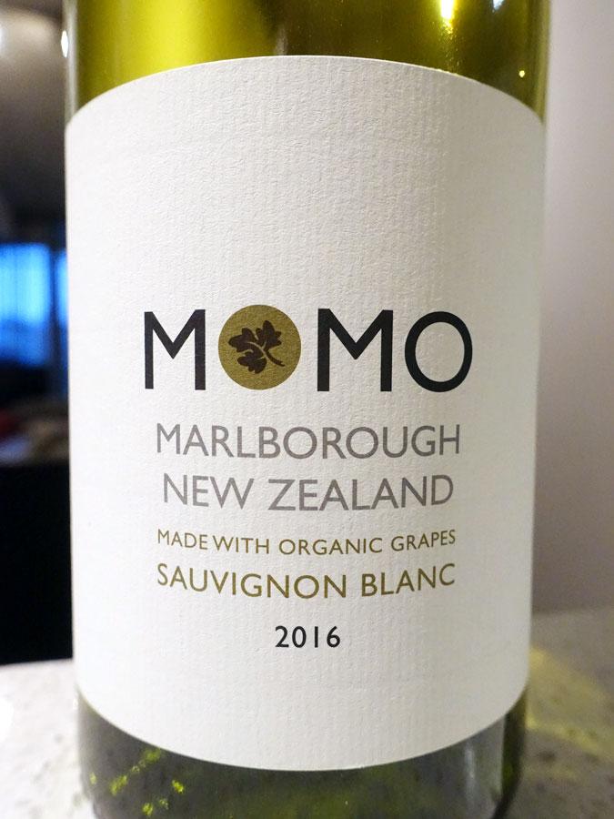 Momo Organic Sauvignon Blanc 2016 (90 pts)