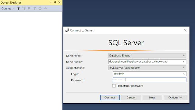 SQL Server log in credentials