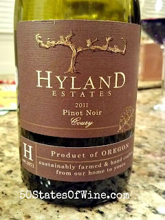 Hyland Estates 2011 Coury Pinot Noir