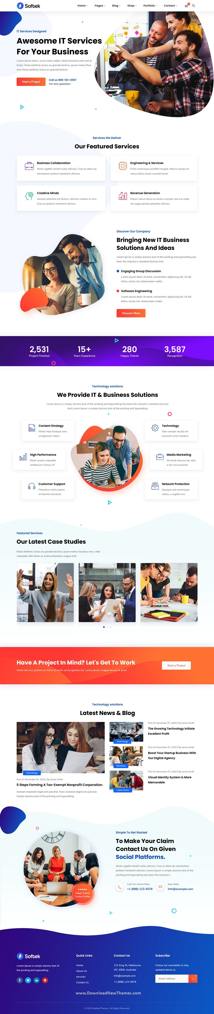 Software & IT Solutions WordPress Theme