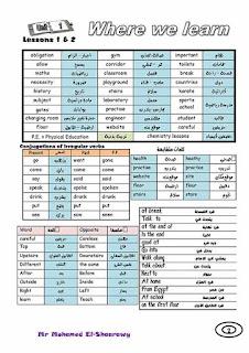 اقوى مذكرة لغة انجليزية للصف الثاني الاعدادي الترم الاول 2020
