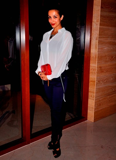 Malaika Arora Khan and Arbaaz Khan at the launch of Aqaba Restaurant