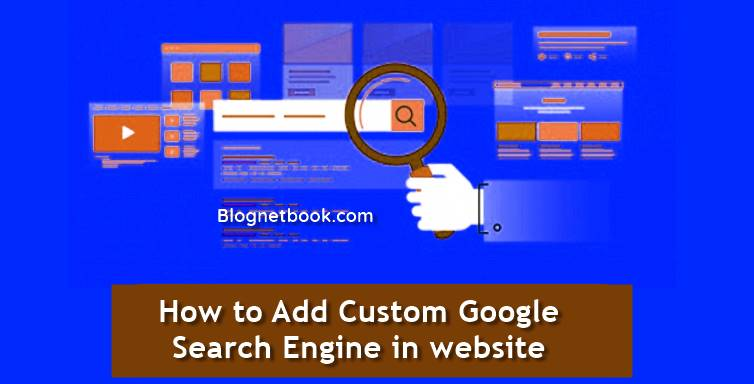 Custom google search engine box for blog
