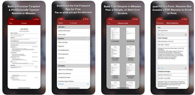 افضل 3 تطبيقات لانشاء سيرة ذاتية احترافية للايفون مجانا