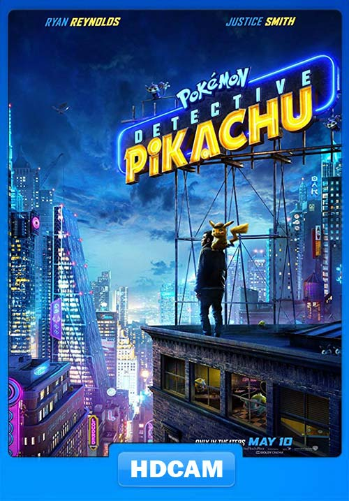 Pokemon Detective Pikachu 2019 HDCAMRip Dual Audio Hindi English 720p x264 | 480p 300MB | 100MB HEVC