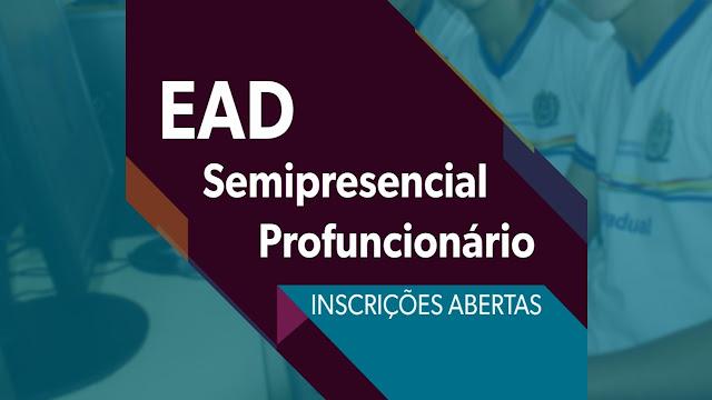 banner - Cursos EAD e Semipresencial - Inscrições abertas
