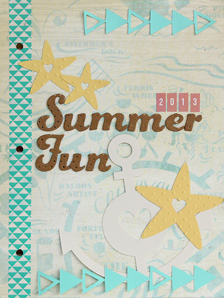 Summer Days Mini Album Paper Bakery July Scrapbook Kit and Project Kit by Juliana Michaels