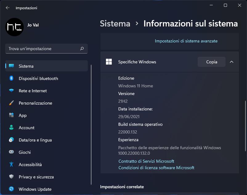 Il nuovo logo di Windows 11 finalmente nell'app Impostazioni