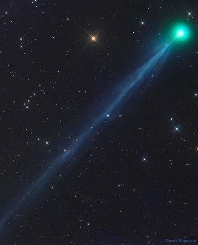 """Cometa """"verde"""" com cauda enorme pode ser visto a olho nu nos próximos dias"""