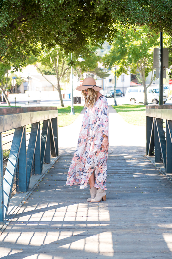 flowy boho dress for fall