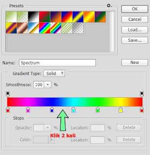 Cara membuat tulisan pelangi atau warna-warni banyak di photoshop