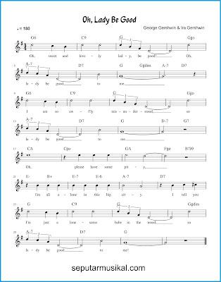 Oh, Lady Be Good chords jazz standar