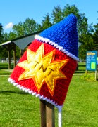 http://www.ravelry.com/patterns/library/firecracker--bottle-rocket--patriotic-hat-pattern