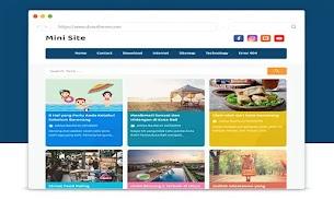 Mini Site Responsive Blogger Template - Responsive Blogger Template
