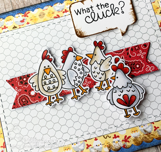 What the Cluck? Chicken Card by Holly Endress | Cluck Stamp Set by Newton's Nook Designs #newtonsnook #handmade