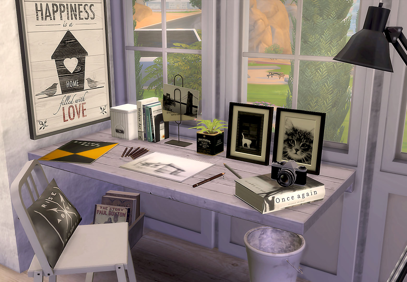 Gamer Home Decor Sims4 Desk Amp Artwork Recolors 書桌與一些圖片 Ruby S Home Design