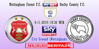 Prediksi Nottingham Forest vs Derby County — 2 November 2019
