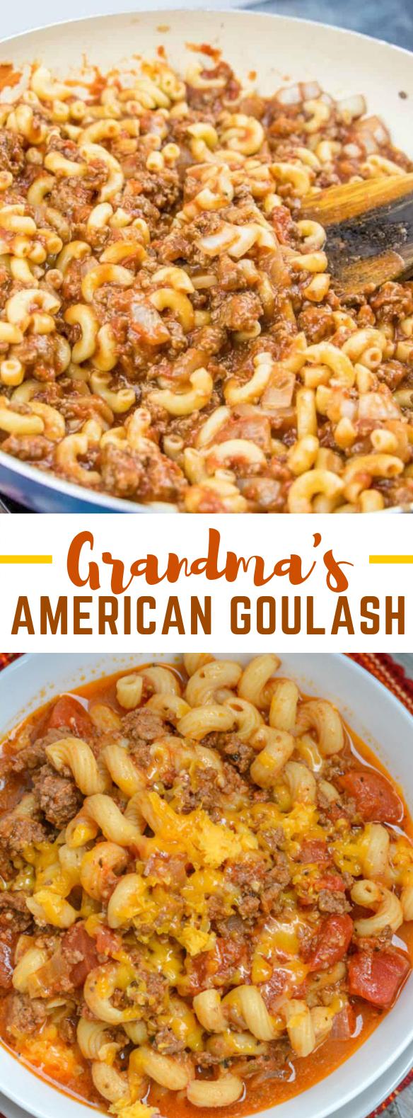GRANDMA'S AMERICAN GOULASH #dinner #pasta