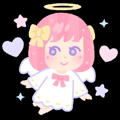 ゆめかわ天使のイラスト