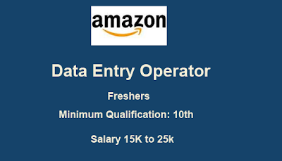 Data Entry Operator back Office Executive fresher computer Operators by Amazon