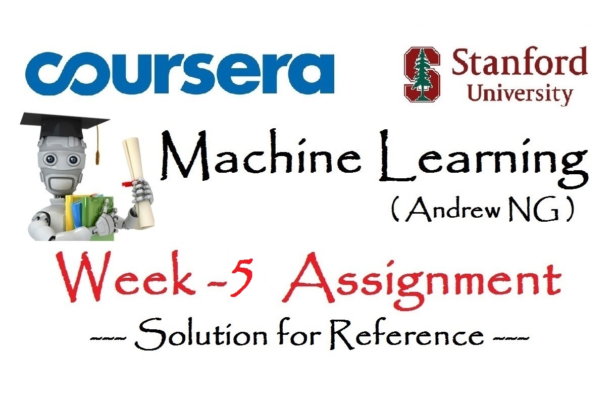 Coursera: Machine Learning (Week 5) [Assignment Solution