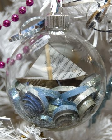 clear ornament filled