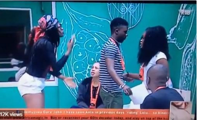 The moment BBNaija housemates Cee-C & Alex nearly punched each other during a heated clash