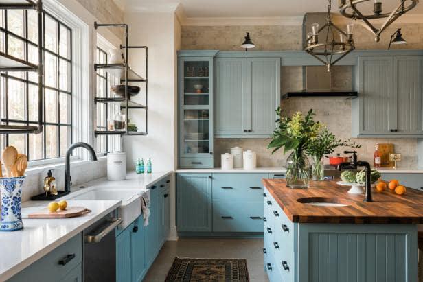 مطبخ عصري باللون الازرق السماوي الانيق موديل 2020