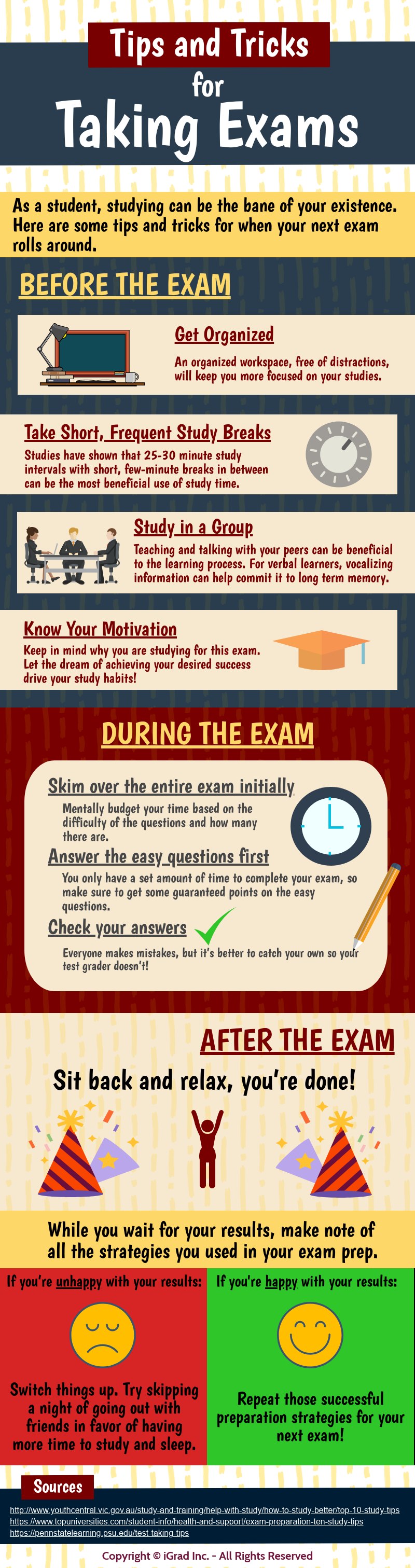 Tips And Tricks For Taking Exam #infographic #Exam #infographics #Tips And Tricks