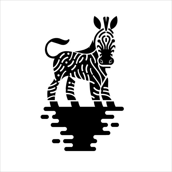Contoh Desain Logo Negative Space - 40