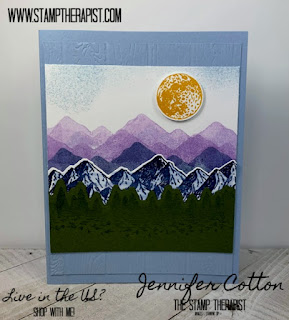 In this card, Jennifer uses the Mountain Air bundle (includes Majestic Mountain Dies) from Stampin' Up! to make a card from the mini catalog!  #StampinUp #StampTherapist