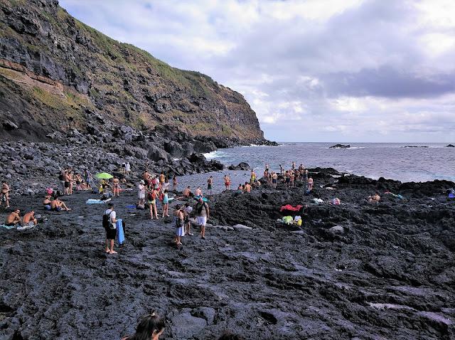 Praia de Ponta Ferraira en Sao Miguel (Açores)